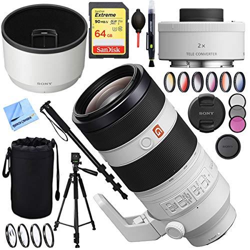 (Sony FE 100-400mm f/4.5-5.6 GM OSS E-Mount Lens SEL20TC FE 2.0X Teleconverter Lens Plus 64GB Accessories Bundle)