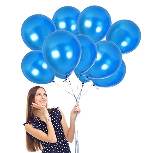 Frame Blue Prince (Treasures Gifted Metallic Sapphire Electric Blue Pearl Thick Latex Balloons 12 inches Royal Blue Party Decorations for Wedding Birthday Graduation or Patriotic Events Pack of 36)