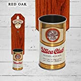 Cheap Wall Mounted Bottle Opener with Vintage Utica Club Beer Can Cap Catcher