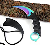 CS GO Counter Strike Karambit handmade hunting knives csgo Fighting Claw tactical survival pocket Neck knife camping tool Review