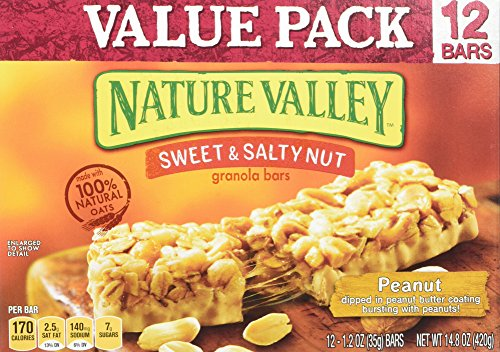 Nature Valley Sweet & Salty Nut Granola Bar Peanut Value Pack 12 - 1.2 oz Bars Alexander Valley