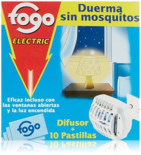 🥇 Fogo Anti-Mosquitos Insecticida Insectos Voladores Aparato Eléctrico + 10 Pastillas