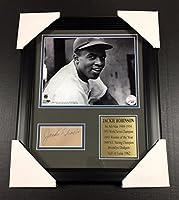 Autographed Jackie Robinson Photo - Cut Facsimile Reprint Framed 8x10 - Autographed MLB Photos