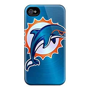 M.box Scratch-free Phone Case For Iphone 4/4s- Retail Packaging - Miami Dolphins