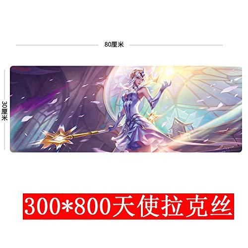 E-Sports マウスパッド キュート 特大 ゲーム ゴールド 3080 エンジェルラックス 300x800x3mm B07LGQ4Q22