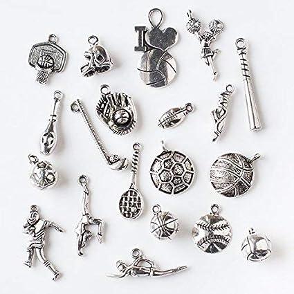 30pcs//lot baseball beads,silver color baseball shaped beads