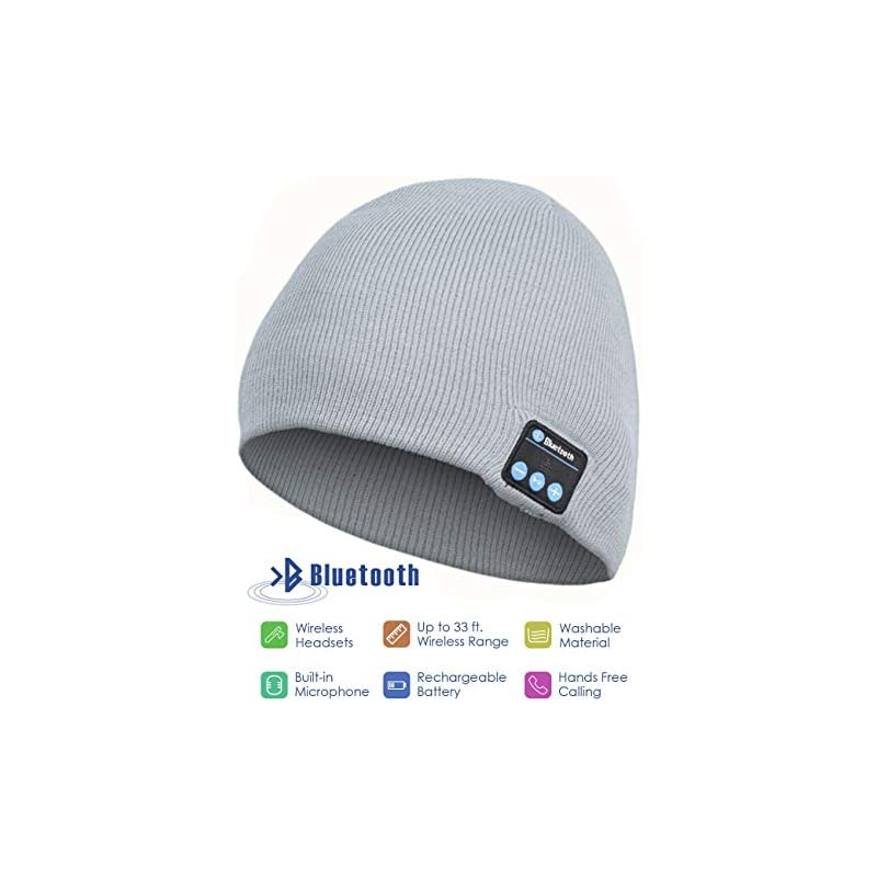 Bluetooth Beanie Hat, Wireless Headphone
