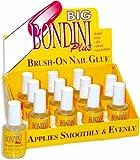 12 Bottle Display Big Bondini Plus All Purpose Brush On Nail Glue Adhesive 0.5oz