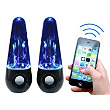Wireless Dancing Music-Water Show Bluetooth Speakers For Iphone 6 IPad 4 Air,Retina, Mini 2 Samsung Galaxy S5, Microsoft Surface Pro 3, Blackberry Q10, Z10, Z30, 9900, Kindle Fire, Nexus 9, 10 Galaxy Note 3 & 4 Lumia 520, 920, 1020, 1520 +more (Black