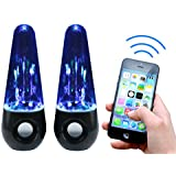 Rebelite Aura v1 Water Show Bluetooth Dual Speaker System w/ Powerful Sound & Dancing Water for iPhone, Android, & Any Bluetooth Device Including Smart Phones, Tablets, mp3 Players, & more