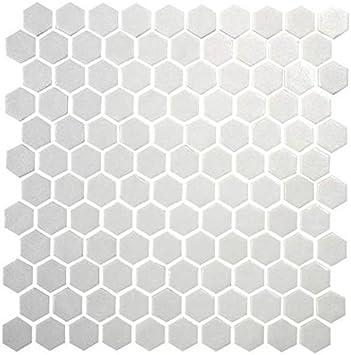 Daltile Hexagon White Porcelain Mosaic Tile Matte Look 1x1 Inch Ceramic Tiles Amazon Com