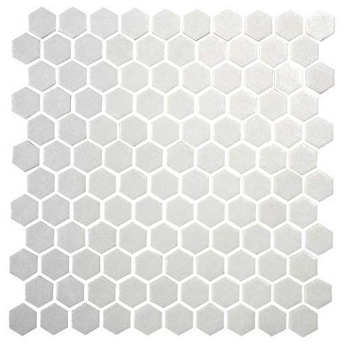 Daltile Hexagon White Porcelain Mosaic Tile Matte Look 1x1 Inch (Daltile Ceramic Tile Flooring)