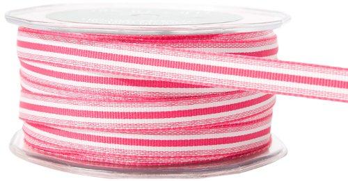 Arts May Ribbon (May Arts 3/8-Inch Wide Ribbon, Fuchsia Grosgrain Stripe)