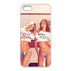 Hf51 Jessica Hart Gomes Sexy modelo Sexy Bikini iPhone 5 5S caja del teléfono celular funda blanca del teléfono celular Funda Cubierta EEECBCAAJ78367