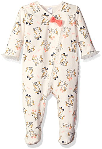 Baby Poodle Dresses - Petit Lem Baby Girls' Print Footie Outfit With Ruffles, Poodle, 3 Months