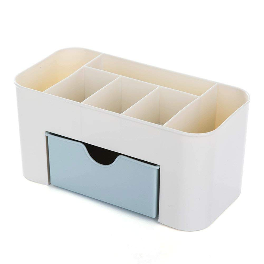 Yevison Premium Quality Home Office Desktop Storage Box with Drawer for Makeup Comestics Jewelry Stationery Organiser Space Saving Box