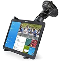 Strong Suction Cup Car Windshield Mount Kit w/ X-Grip Holder for 12 Tablets Apple iPad Pro w/o Case, Skin or Sleeve