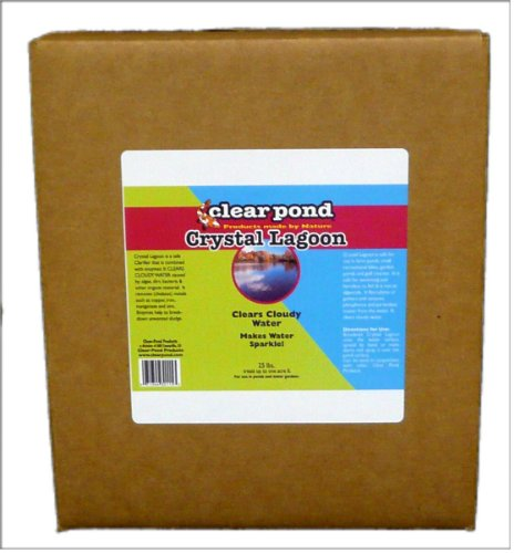 Clear Pond Crystal Lagoon Dry Water Clarifier - 25-Pound (Pond Clear Crystal)