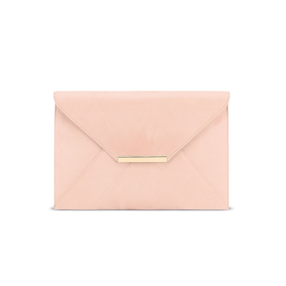 Clutch Purses for Women Evening,Anna Smith Ladies Envelope Clutch Evening Bag with Removable Chain Strap Wedding Prom Party Magnet Hook Faux Suede Handbag Purse with Pocket(Light Pink)