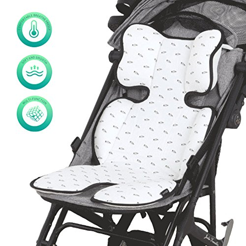 Furrybaby Breathable 3D Air Mesh Car Seat & Stroller Liner, Comfortable Baby Cooling Pad for Summer, White Shoes by furrybaby