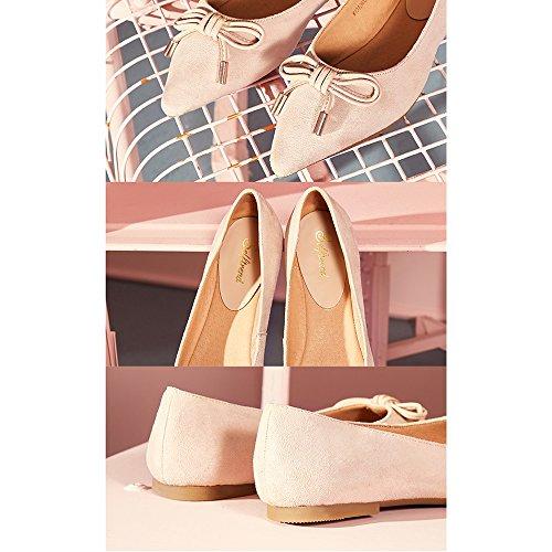 Primavera Sandalias Tamaño UK6 Verano Poco Arte Pala Cómodo Boca Retro Color EU39 Bajos De Zapatos Albaricoque Albaricoque Bonitos Y Con Zapatos Literatura Tacones Femeninas Profunda YQQ AzPqwn