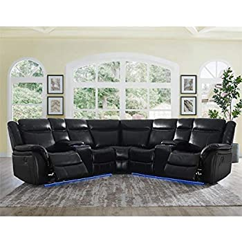 Magnificent Amazon Com Steve Silver Levin Black 4 Piece Power Reclining Machost Co Dining Chair Design Ideas Machostcouk