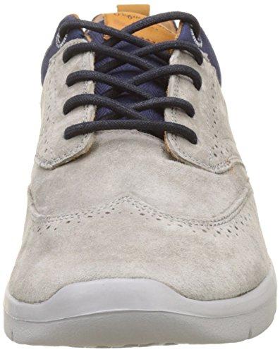 uomo Jayden Brogue Jeans Grigio Sneakers da Pepe grigio basse TzqgY775