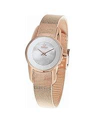 Obaku Denmark Womens V130LXVWMV Rose Gold Stainless Steel Case White Dial Watch