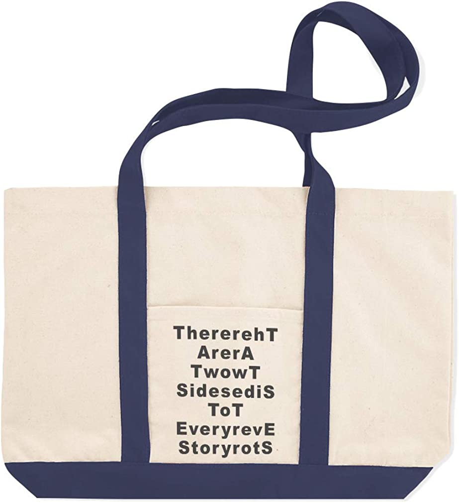 Canvas Shopping Tote Bag There Are 2 Sides to Every Story B Story Beach for Women