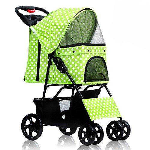 NAUY- Vierrad einfache Falten Haustier Trolley Hund Katzen Und Hunde Teddy Trolley Käfig Outdoor Reise Waren ( Farbe : #1 )