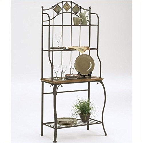 BOWERY HILL Bakers Rack in Coppery Brown