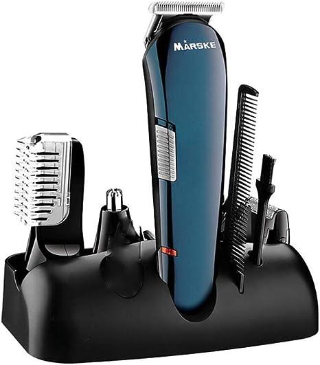 QJXF 5 En 1 Trimmer De Precisión, Máquina De Afeitar Eléctrica Multifunción para Hombres-para Barba, Pelo Y Cuerpo con Accesorio De Trimmer De Nariz, Grabado Patrón: Amazon.es: Deportes y aire libre