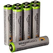 AmazonBasics AAA High-Capacity Rechargeable Batteries (8-Pack) Pre-charged - Packaging May Vary
