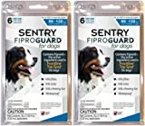 SENTRY FiproGuard Dog Flea &Tick Squeeze-On 89-132lbs 12month(2x6mo)