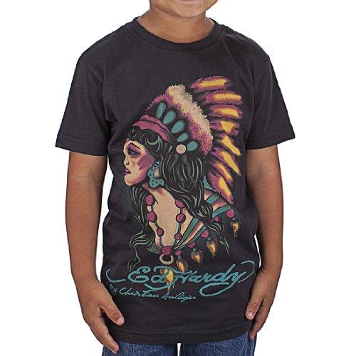 Ed Hardy Big Girls' Indian T-Shirt - Black - Small