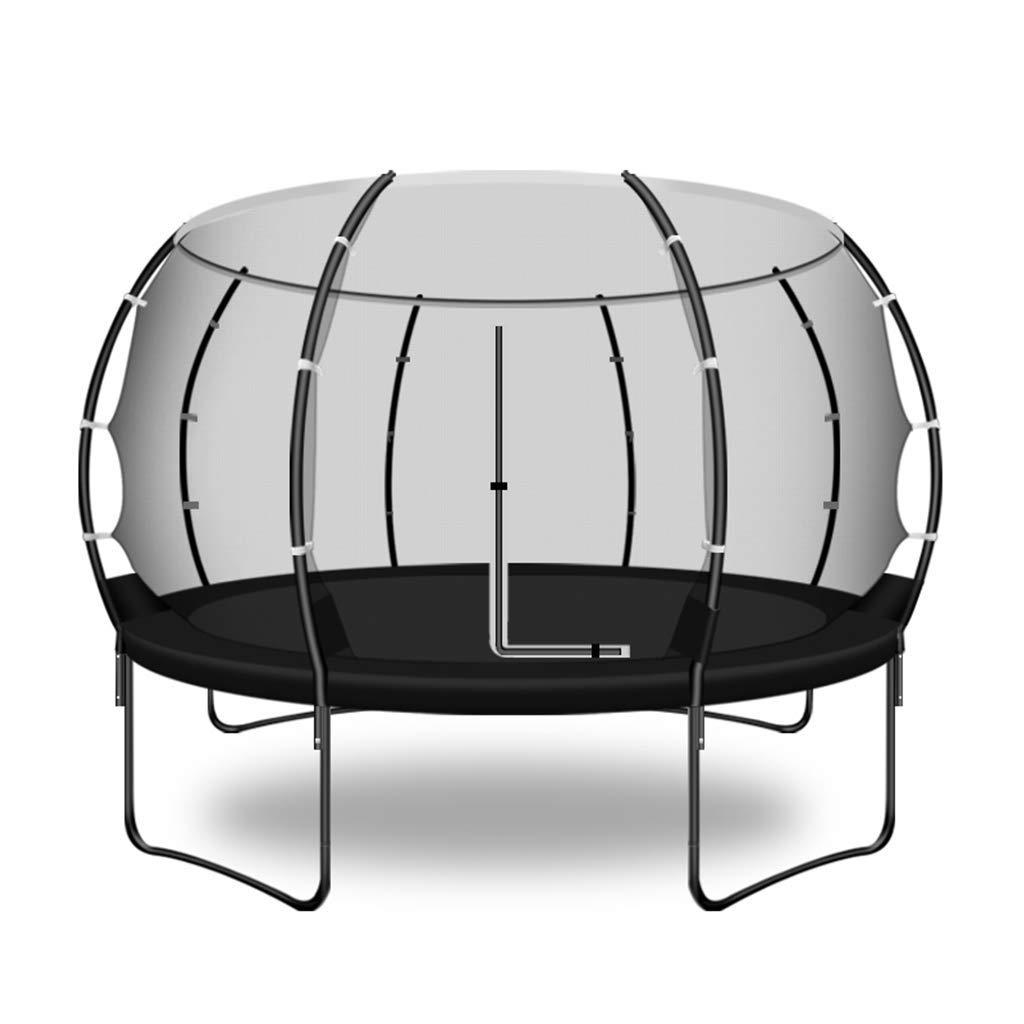 LT トランポリンバウンスベッドトランポリンホーム子供屋内屋外トランポリン大大人屋外保護ネットジャンプベッド耐荷重400キログラム遊園地トランポリン (Color : 黒, Size : 306CM) 黒 306CM
