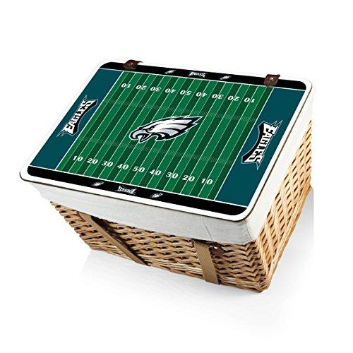 NFL Philadelphia Eagles Canasta Grande Willow Picnic Basket (Philadelphia Eagles Gift Baskets)