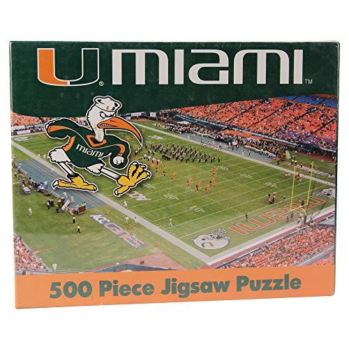 (R and R Imports NCAA Miami Hurricanes 500 Piece Stadium Jigsaw Puzzle (Miami Hurricanes) )