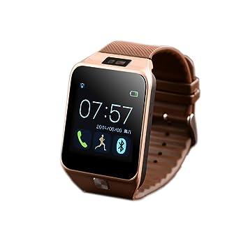 fenguh Oro R5 Bluetooth 4.0 Reloj Inteligente Smartwatch Llamar Gratis Mensaje Reloj Teléfono Inteligente Pasómetro para