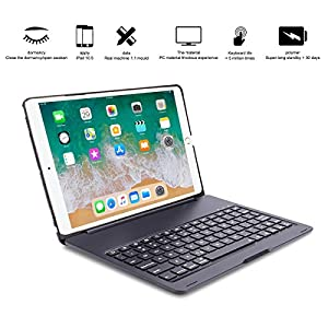 IPad Pro 10.5 Case, ARIMOOZ Multi-Functional Smart Auto Wake & Sleep keyboard ,Slim Shell Protective Cover with Wireless Bluetooth Keyboard for apple Pro 10.5 (A1701/A1709) (Black)