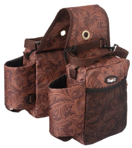 Brown Tooled Tough 1 Printed Saddle Bag
