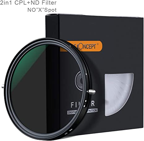67mm Filtro ajustable 2 en 1 Fader variable ND2-ND32 Filtro ND y ...