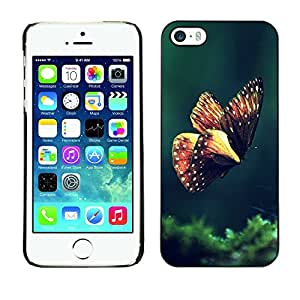 Be Good Phone Accessory // Dura Cáscara cubierta Protectora Caso Carcasa Funda de Protección para Apple Iphone 5 / 5S // Butterfly Spring Morning Green Nature