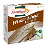 Manischewitz Whole Wheat Matzos (1 box x 284 g)