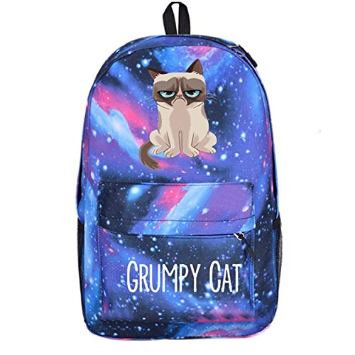 YOYOSHome Anime Grumpy Cat Cosplay Bookbag College Bag Daypack Backpack School Bag (5)