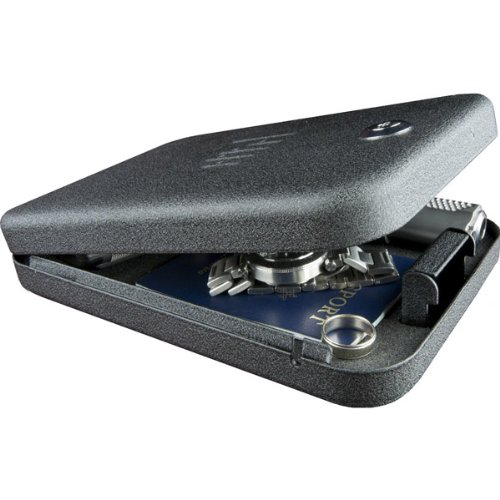 "GunVault NV200 Standard Safe 9.5""X6.5""X1.75"" Cable Black Key Lock NV200 by GunVault"