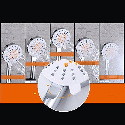 Bijjaladeva Wasserhahn Wasserhahn Wasserhahn Bad Wasserfall Mischbatterie Waschbecken Waschtisch Armatur für Bad mit Den Oberen Messing der Frau Waschen,Spritzpistole Bad Armatur mit der Pistole Dusche 04c6d7