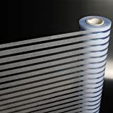 Frosted glass films sticker anti-collision bars office windows and windows striped privacy waist line-A