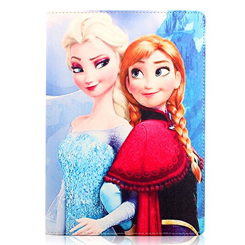 iPad Mini 2 3 Case, HM-ANT Smart Anna & Elsa Flip Stand Smart Leather Case Cover for iPad Mini 2 3 with Retina Display + Free Screen Protector (Pattern-1) (Frozen Case Tablet 3)