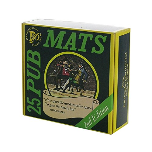 25 Pub Mats (Beermats) from England in gift box (pp)